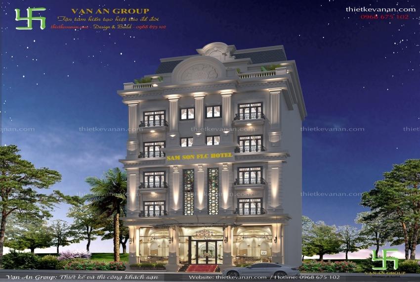 thiết kế khách sạn 6 tầng tại Sầm Sơn