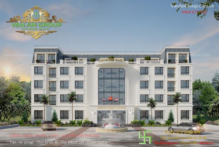 thiết kế khách sạn 3 sao tại cát bà