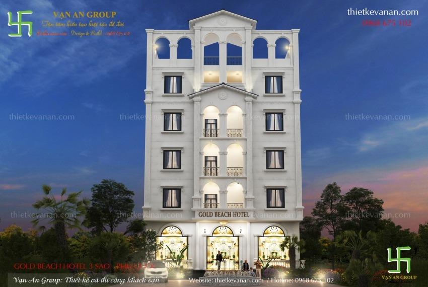 thiết kế khách sạn 5 tầng tại phú quốc