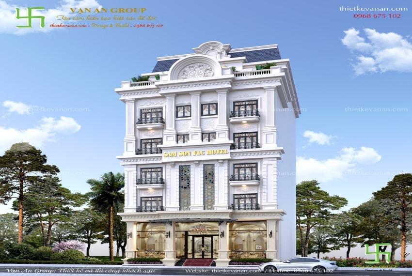 thiết kế khách sạn 7 tầng tại sầm sơn