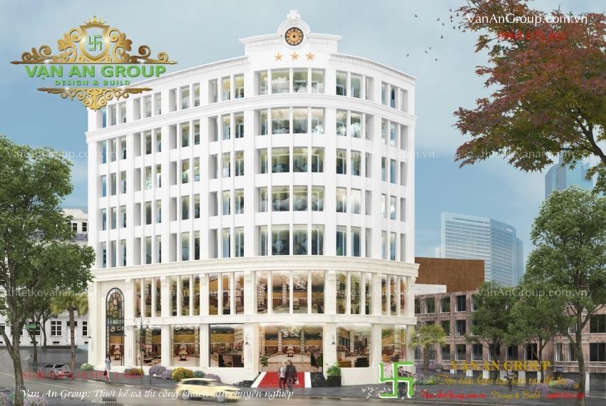 thiết kế khách sạn 7 tầng tại sapa