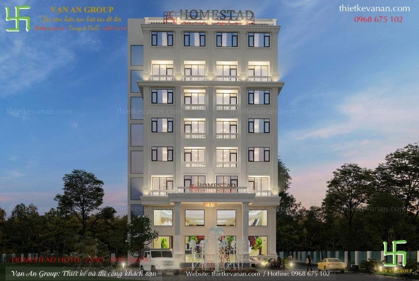 thiết kế thi công khách sạn 8 tầng tại phú quốc