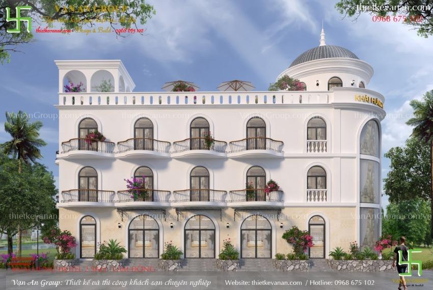 thiết kế khách sạn 3 tầng