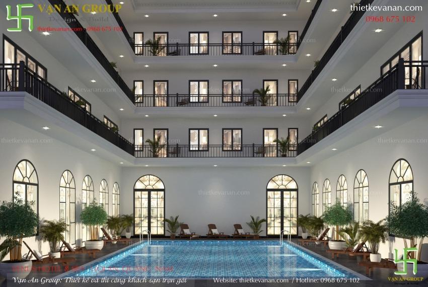 mẫu thiết kế khách sạn 4 tầng