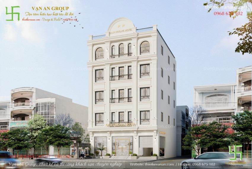 mẫu thiết kế khách sạn 5 tầng đẹp