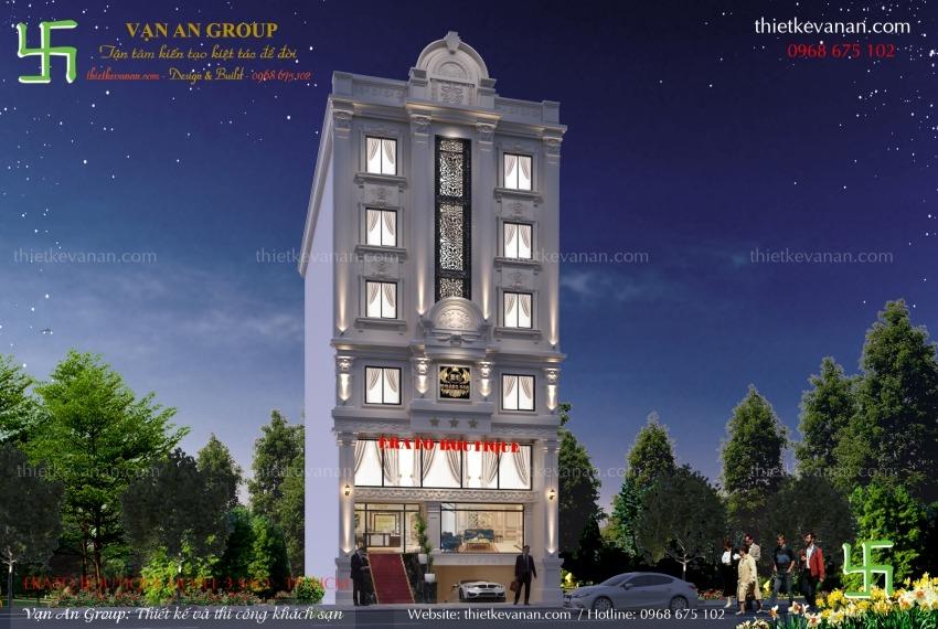 mẫu thiết kế khách sạn 6 tầng đẹp