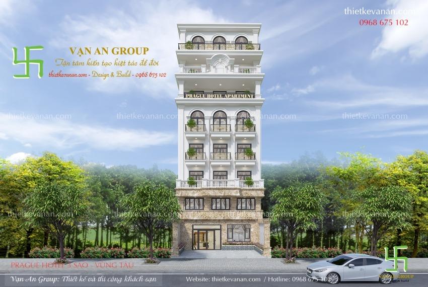 mẫu thiết kế khách sạn 8 tầng đẹp