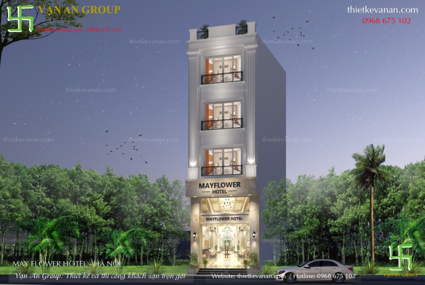 mẫu thiết kế khách sạn mini đẹp
