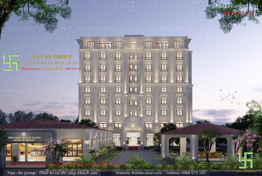 thiết kế khách sạn 4 sao đẹp