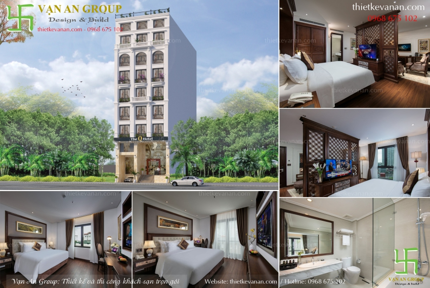 thiết kế khách sạn mặt tiền 8m