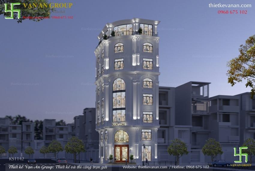 thiết kế khách sạn mini 100 m2