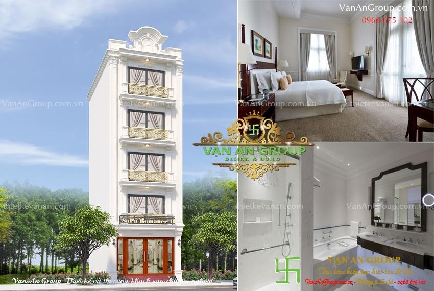 thiết kế khách sạn mini 5 tầng đẹp