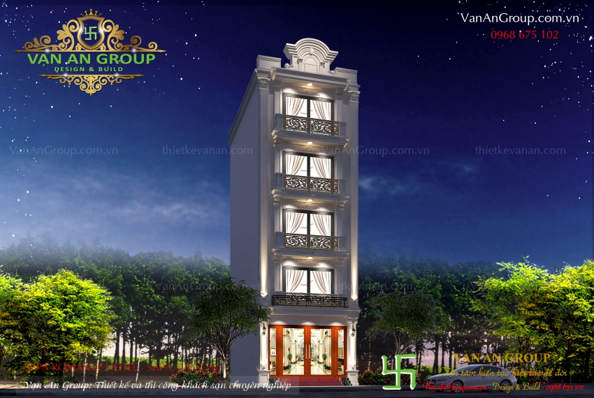 thiết kế khách sạn tại sapa