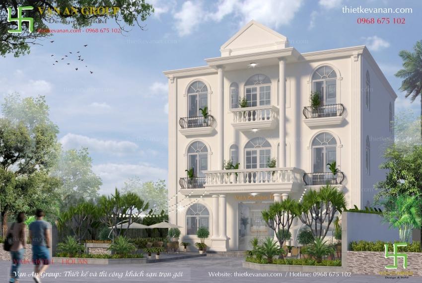 thiết kế khách sạn mini đẹp