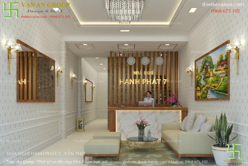 thiết kế nhà nghỉ 4 tầng đẹp