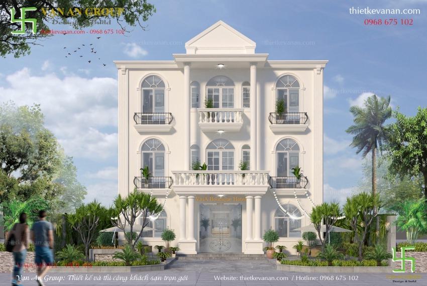 thiết kế thi công khách sạn 2 sao tại hội an
