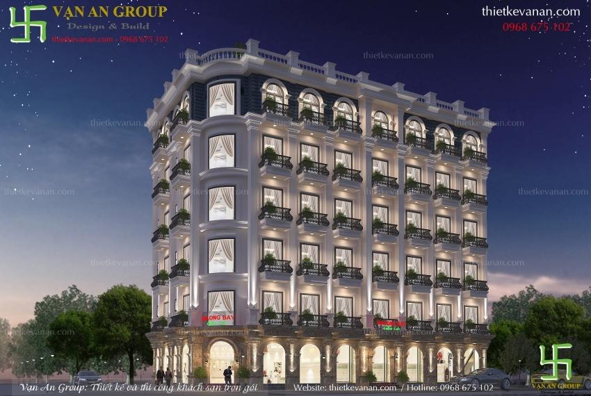 thiết kế thi công khách sạn 3 sao