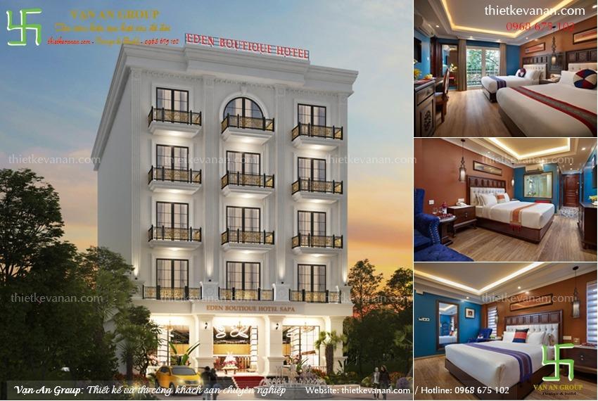 thiết kế thi công khách sạn tại sapa