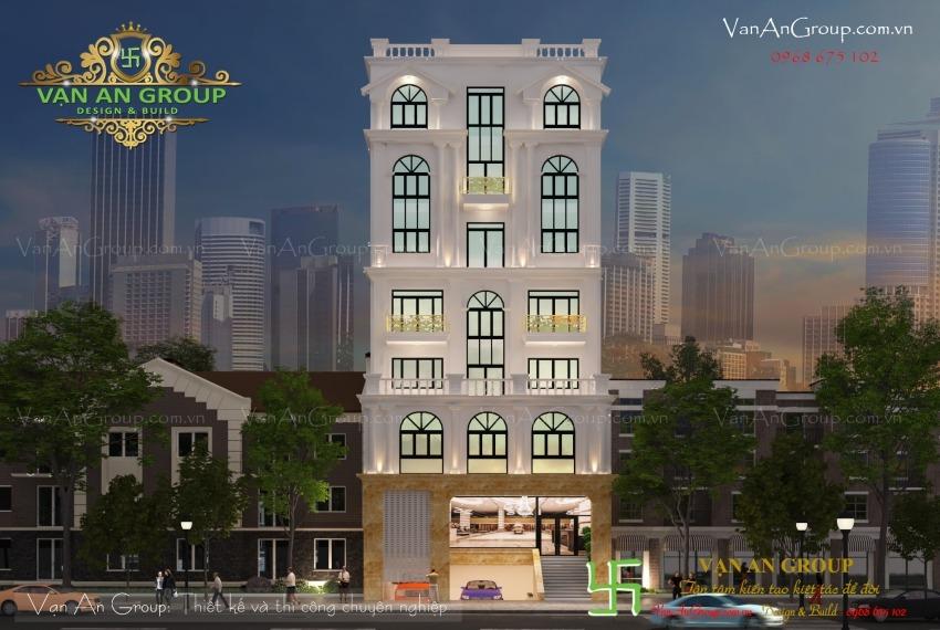 thiết kế văn phòng cho thuê 7 tầng