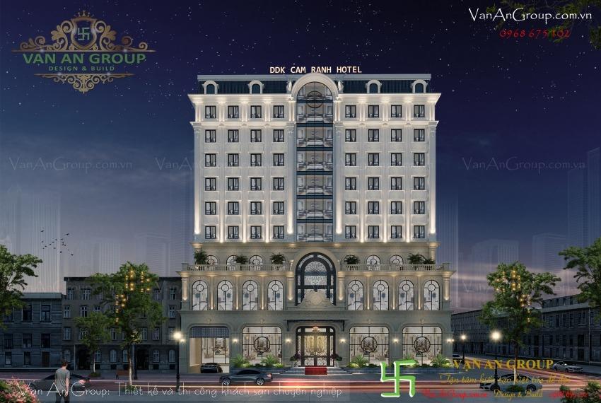thiết kế khách sạn 4 sao tại cam ranh