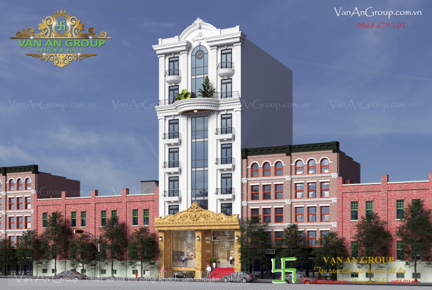 thiết kế khách sạn 7 tầng tại nha trang