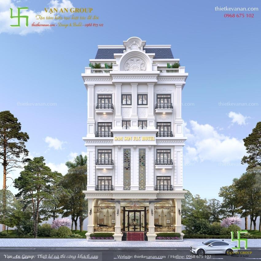 thiết kế khách sạn mini 7 tầng tại thanh hóa