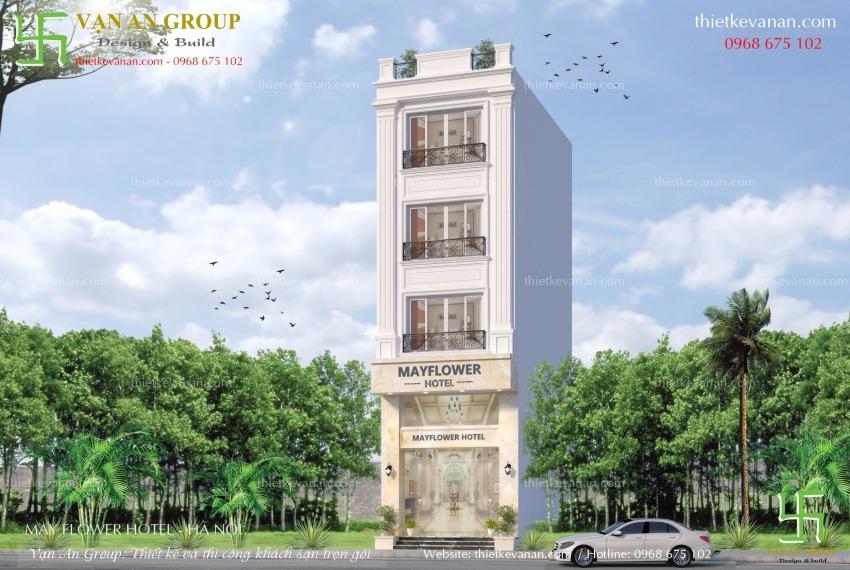 thiết kế khách sạn mini mặt tiền 4m