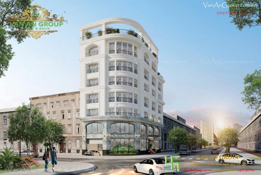 thiết kế tòa nhà văn phòng kiến trúc châu âu