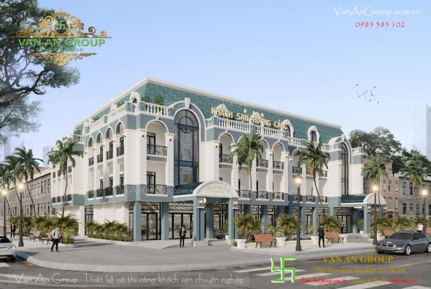thiết kế khách sạn 3 sao tại tuy hòa
